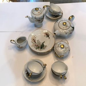 Other - Japanese Hand Painted Lily China Desert & Tea set